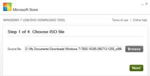 Pilih file ISO